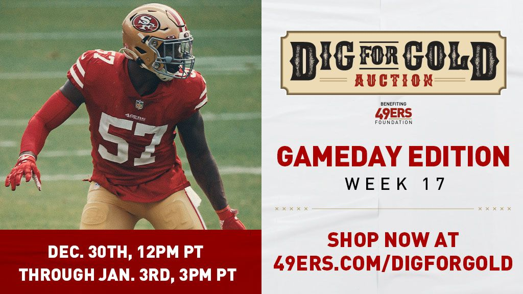 49ers Foundation Dig For Gold Auction