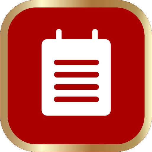 Icons-White-RedwGoldOutline-Notes