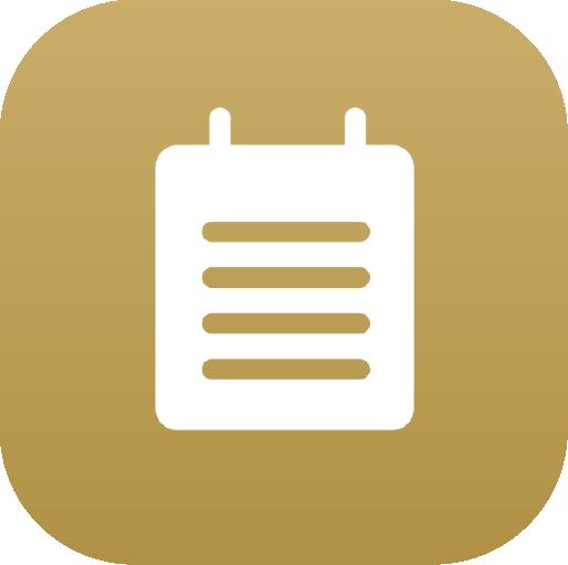 Icons-White-GoldGradient-Notes