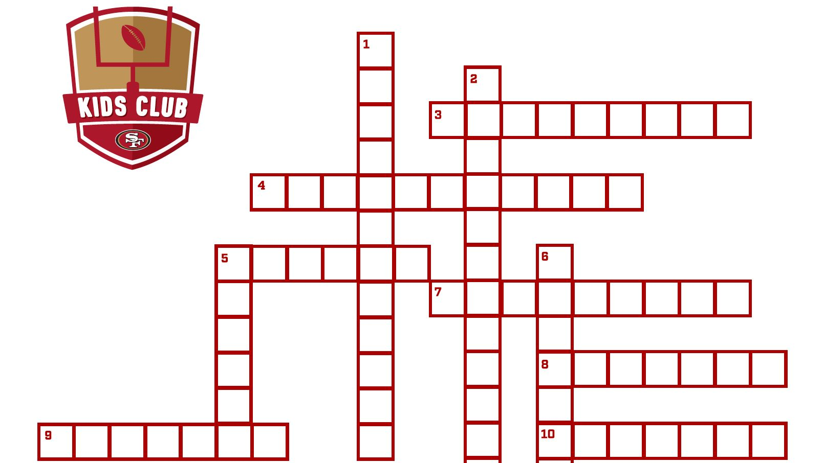 49ers Crossword Puzzle
