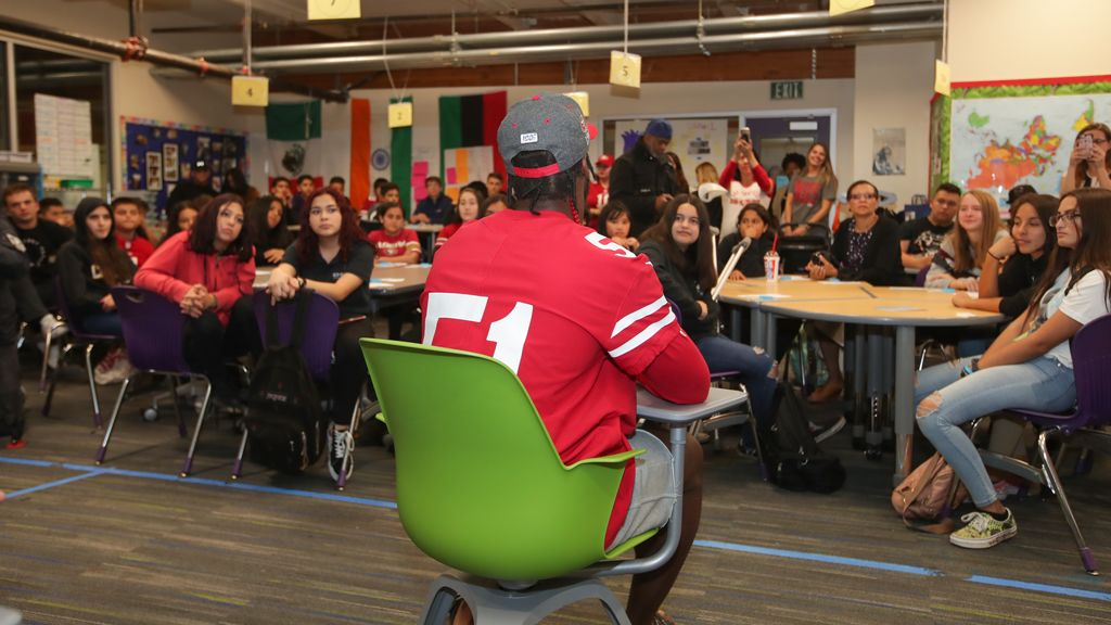 December 9: 49ers Partner with One Love and Youthhype to Host Healthy Relationship Workshop
