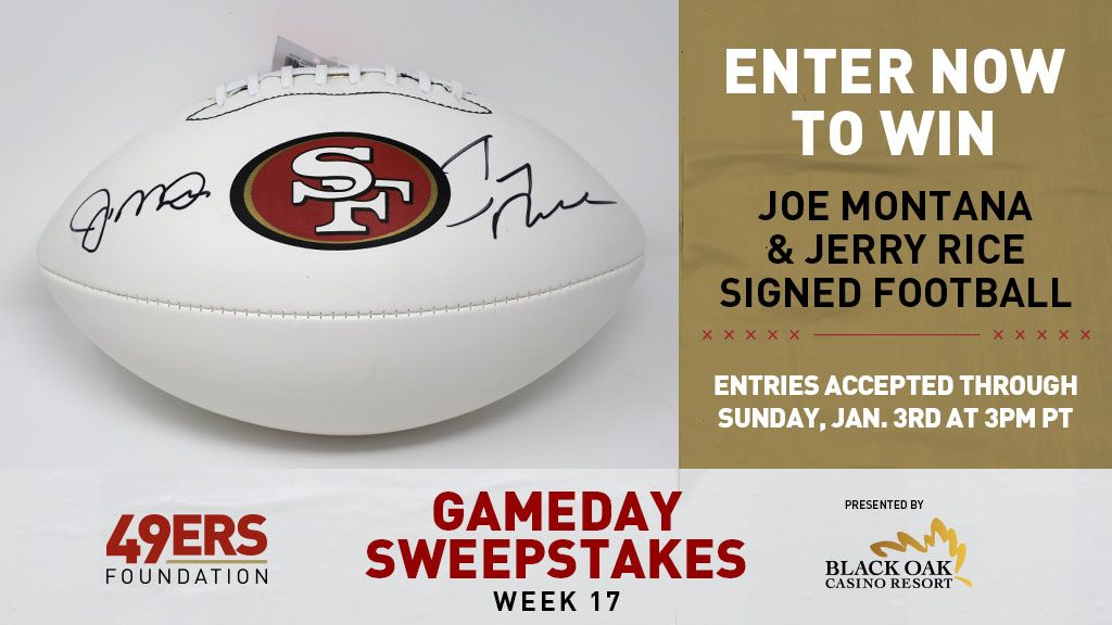 49ers Foundation Gameday Sweepstakes