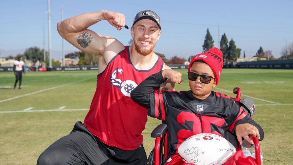December 3: CJ Inspires Team During 49ers Wish