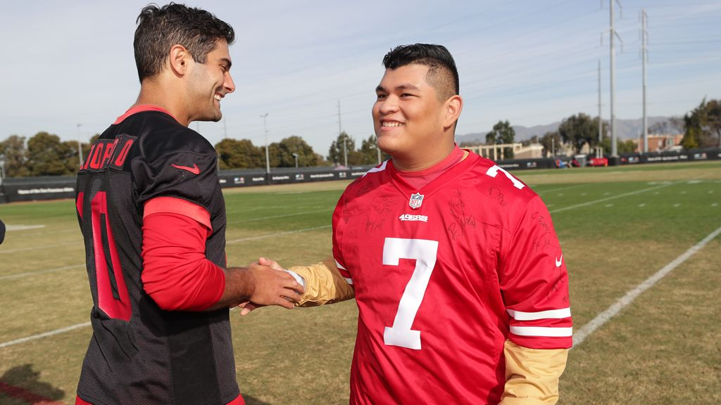 December 21: Antonio Jr. Inspires Favorite Team During 49ers Wish