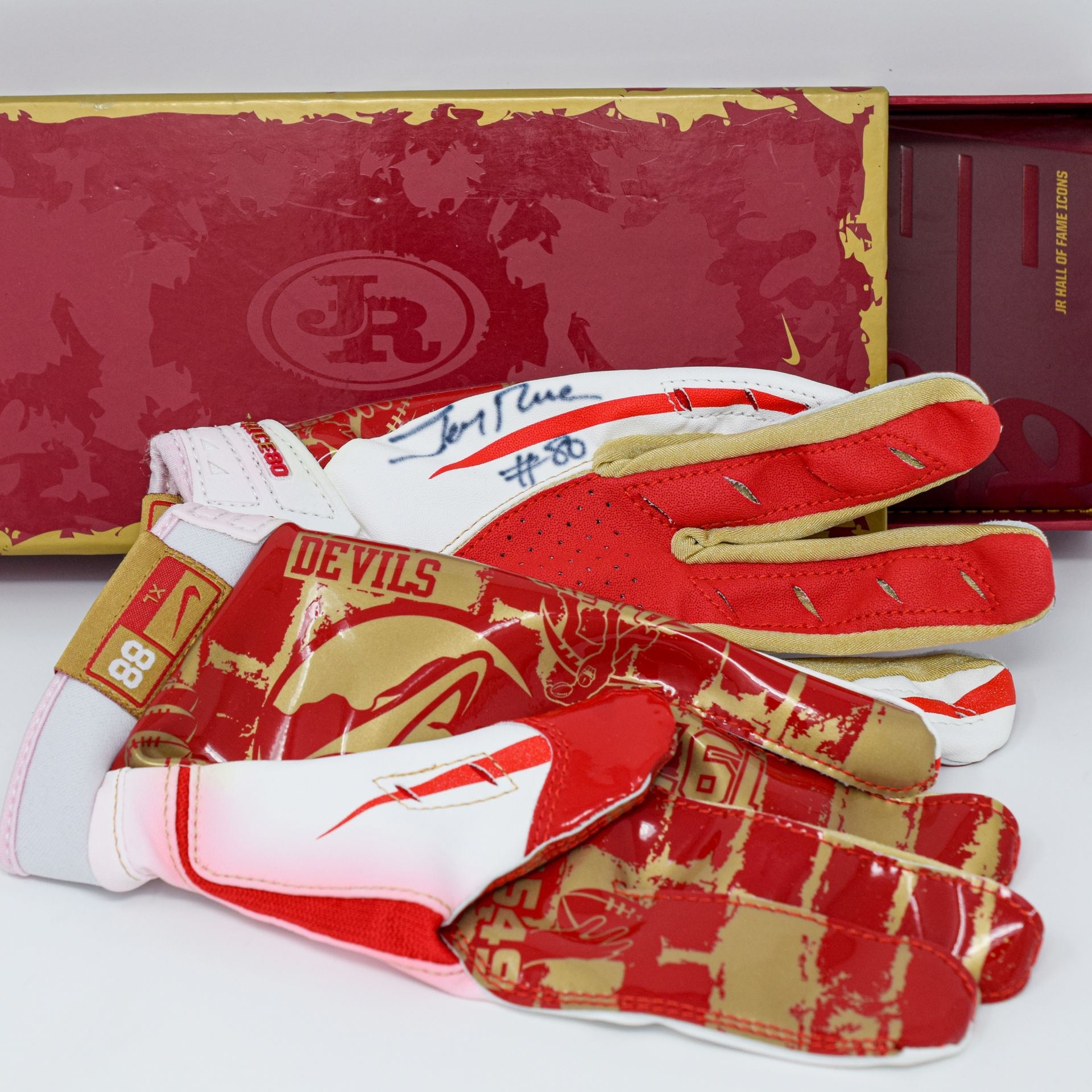 Jerry Rice Signed Custom Nike Gloves