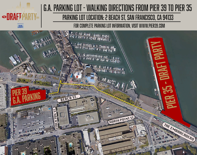 g.a. parking lot - walking directions from pier 39 to pier 35