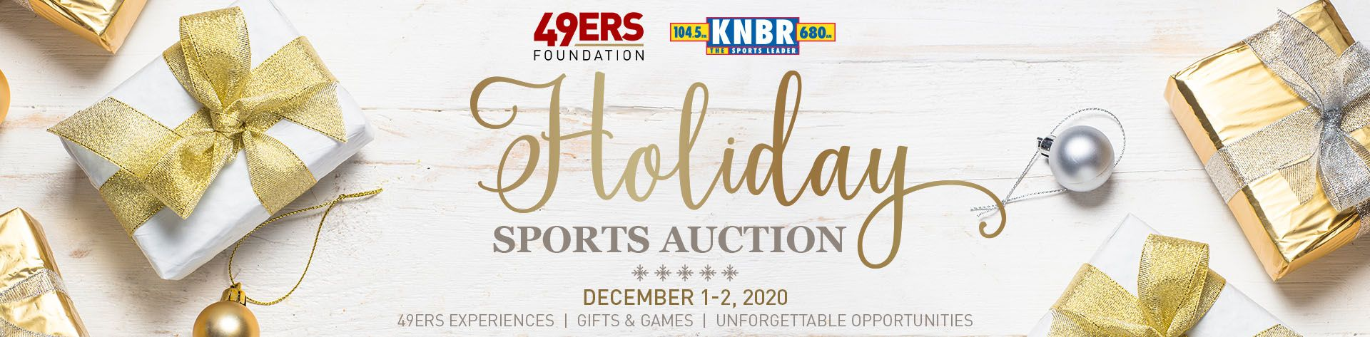 Holiday Sports Auction Header