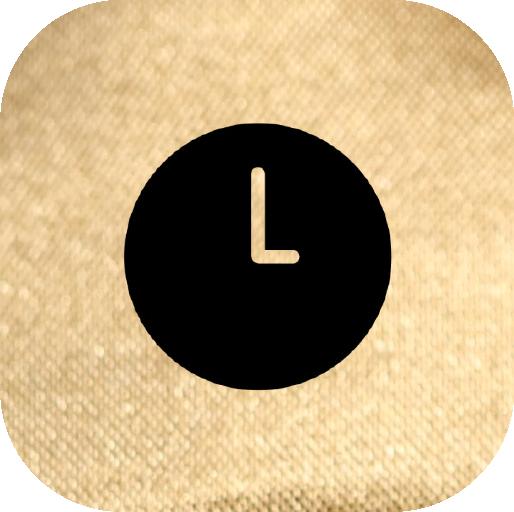 Icons-Black-GoldTexture-Clock