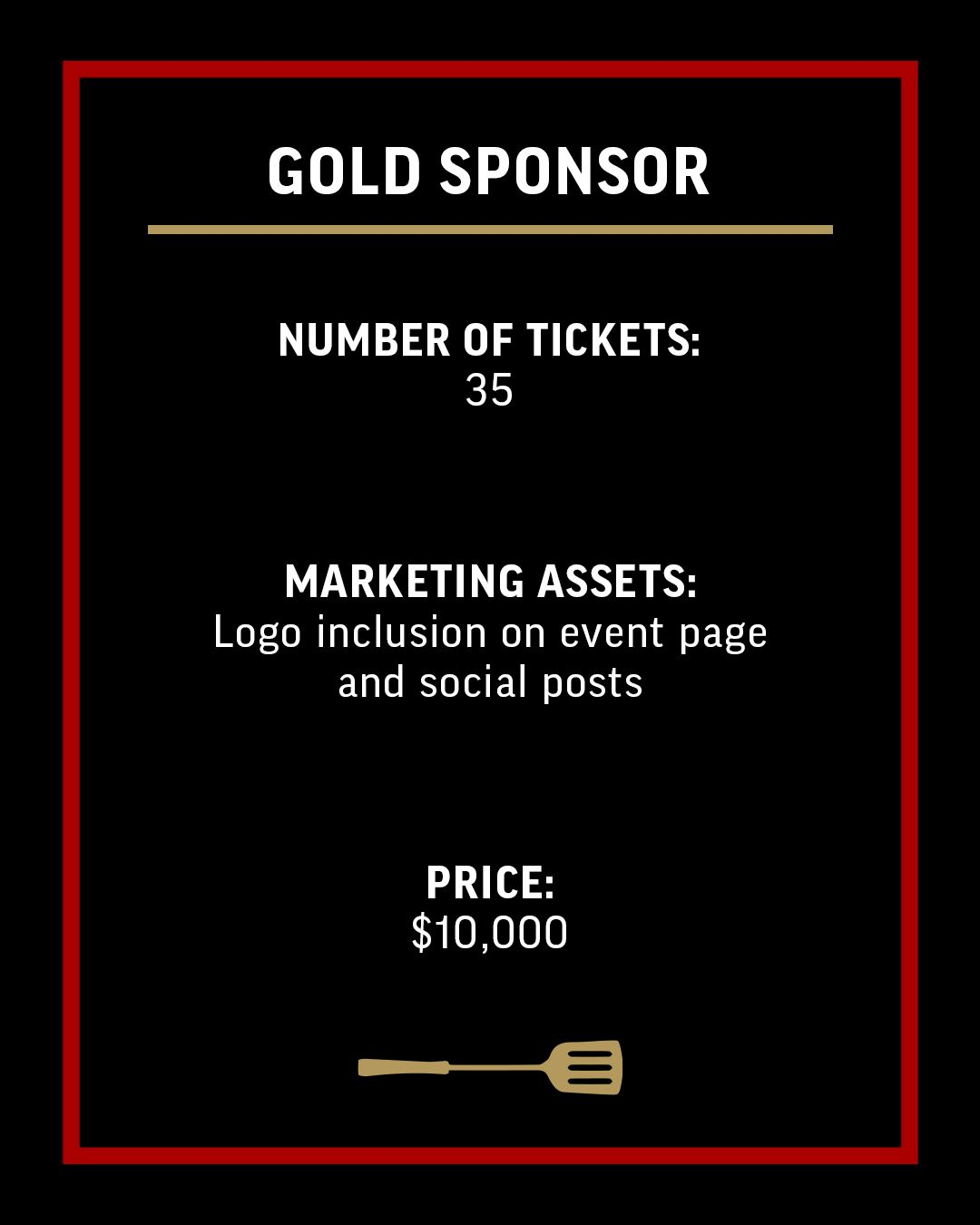 Gold Sponsor-Ticket Option-4x5