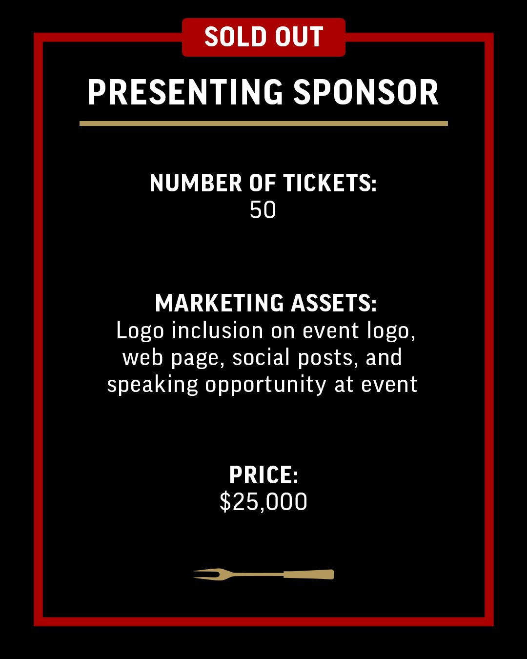 Presenting Sponsor-Ticket Option-4x5