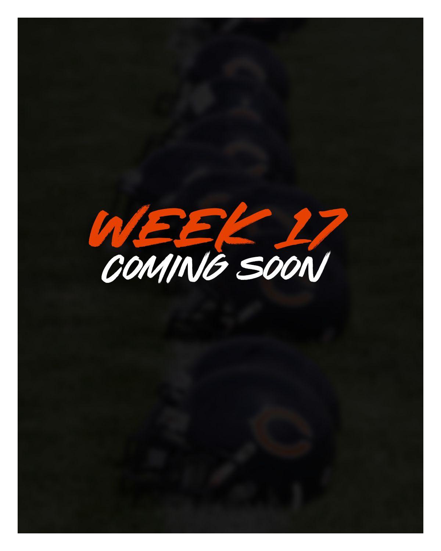 Week 17  - Bears vs. Packers