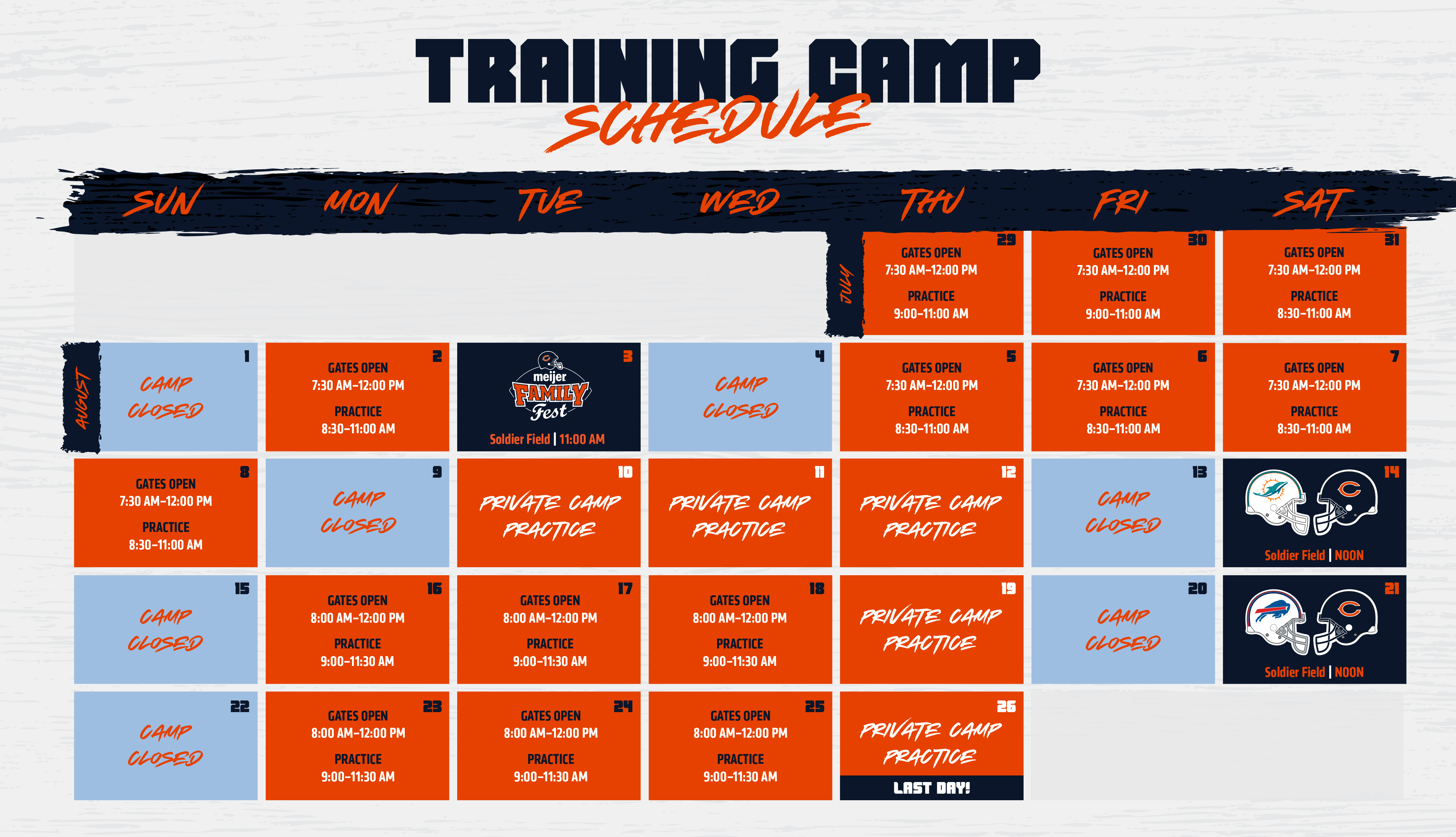 Training Camp | Chicago Bears Official Website