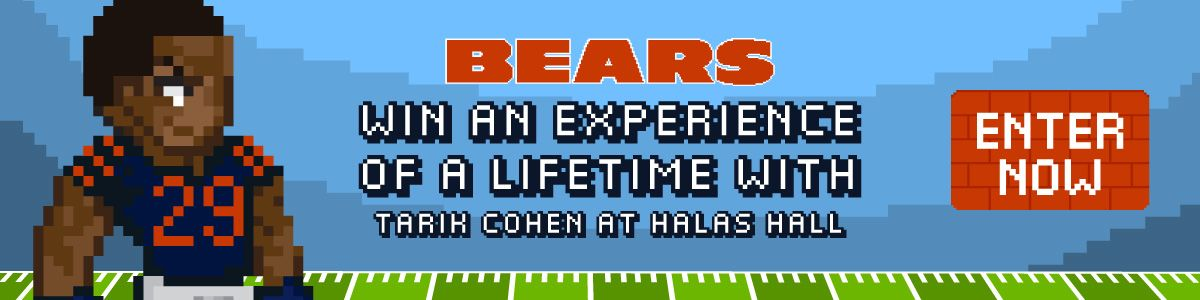 Win an Experience of a Lifetime with Tarik Cohen at Halas Hall