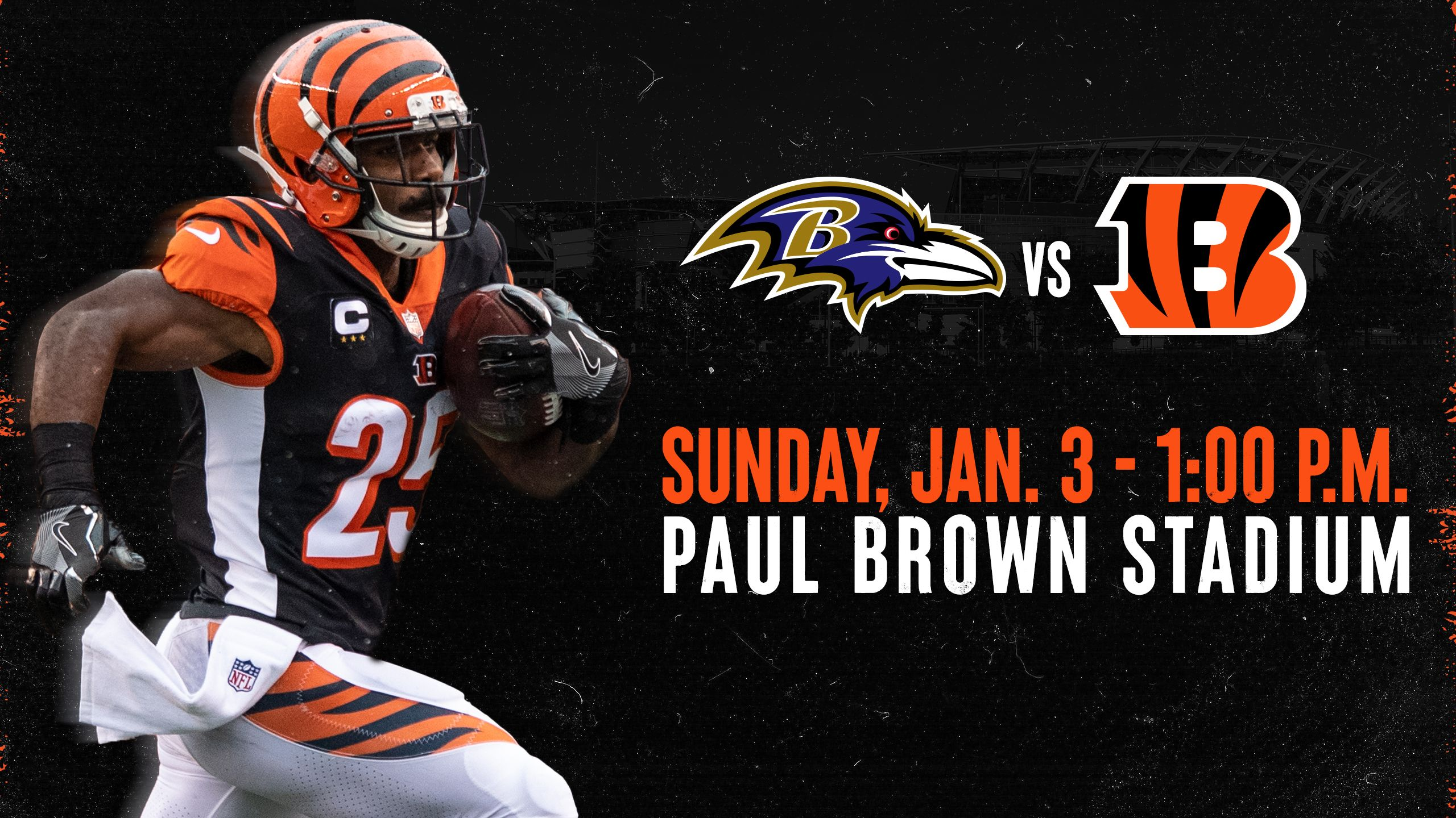 Bengals vs. Ravens | Sunday, Jan. 3, 2021