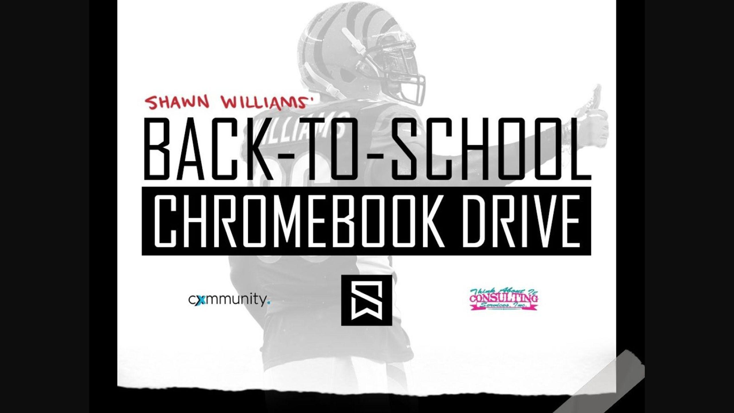 Shawn Williams' Back-to-School Chromebook Drive