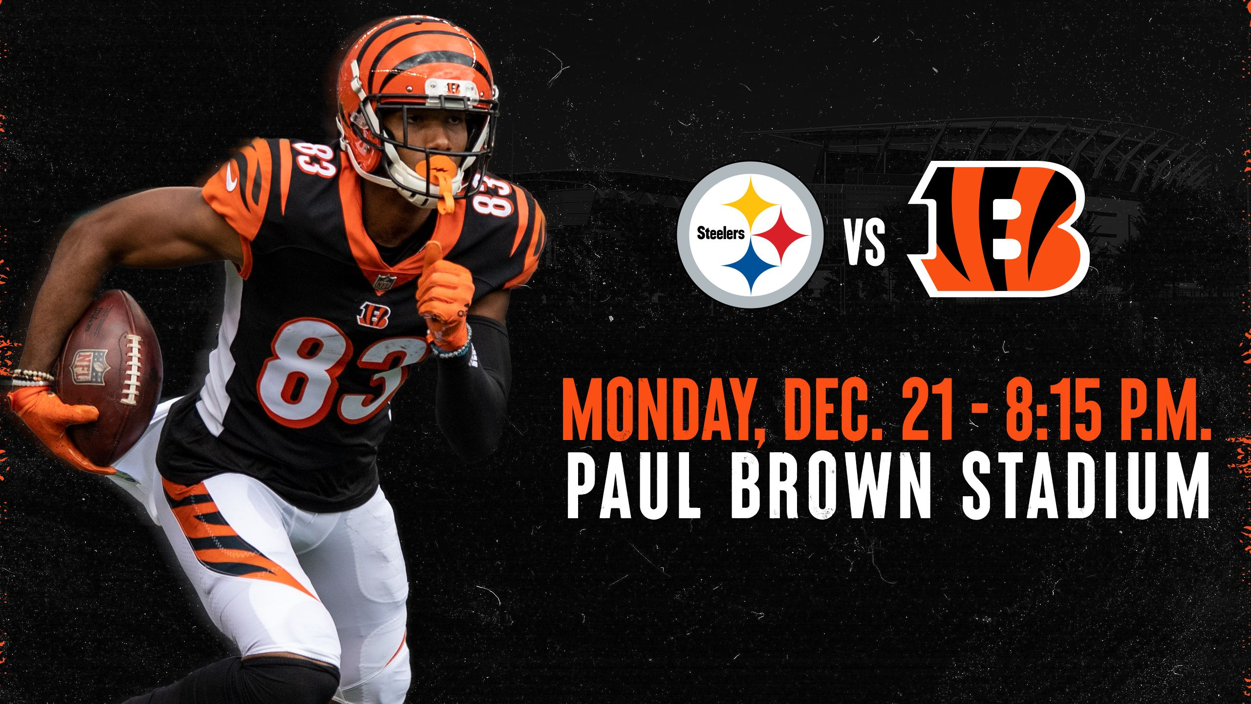 Bengals vs. Steelers | Monday, Dec. 21, 2020