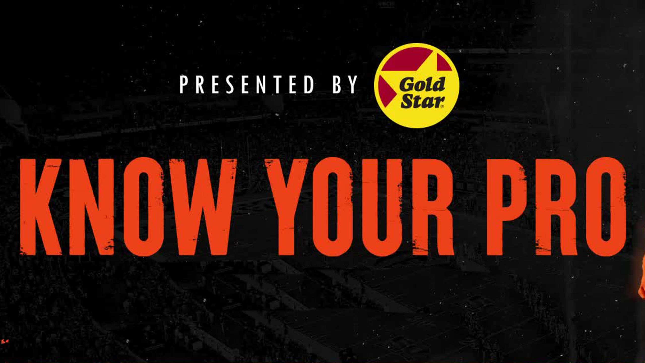 Know Your Pro | Presented by Gold Star