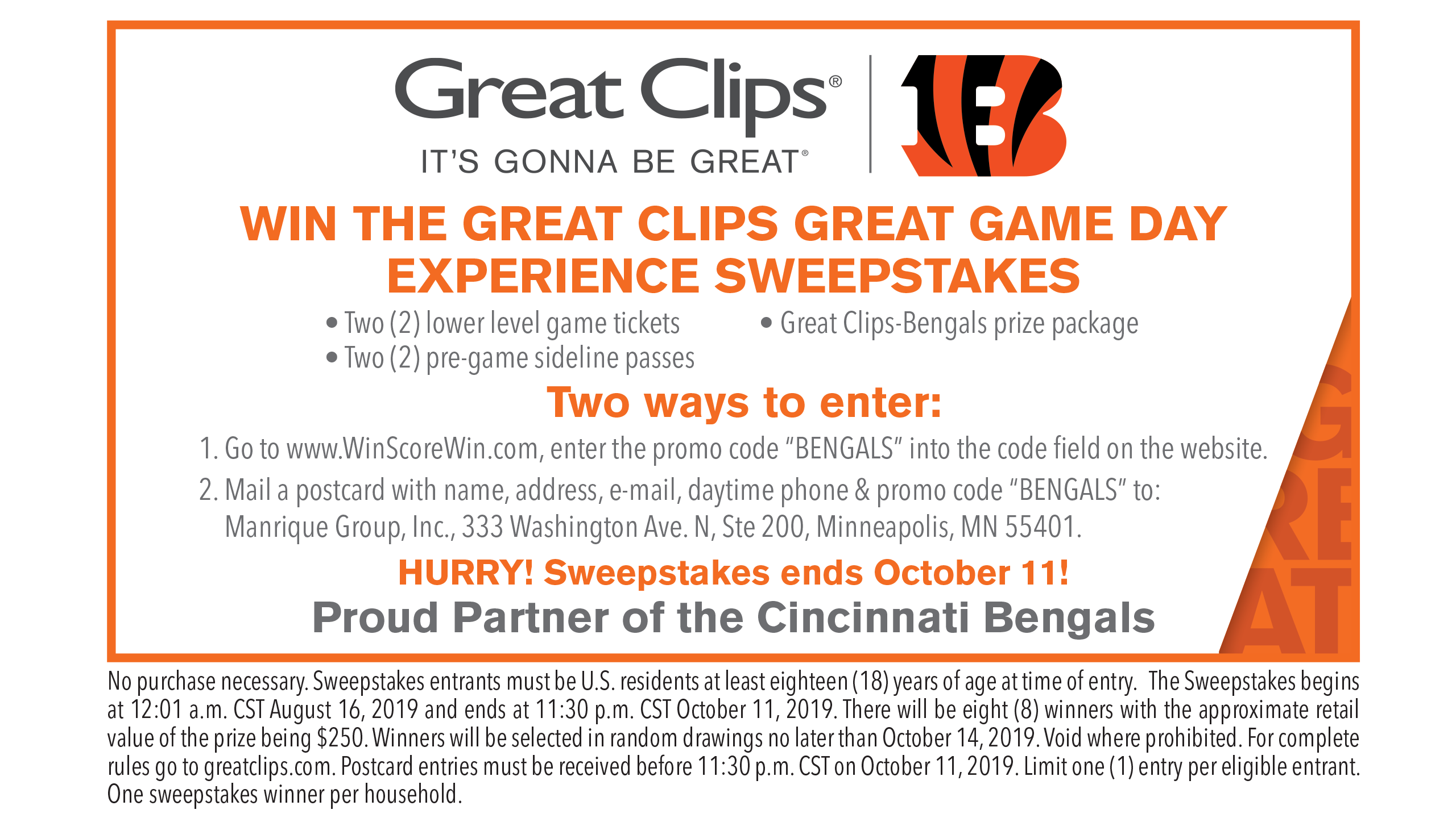 Great Clips_Great Game Day Sweeps
