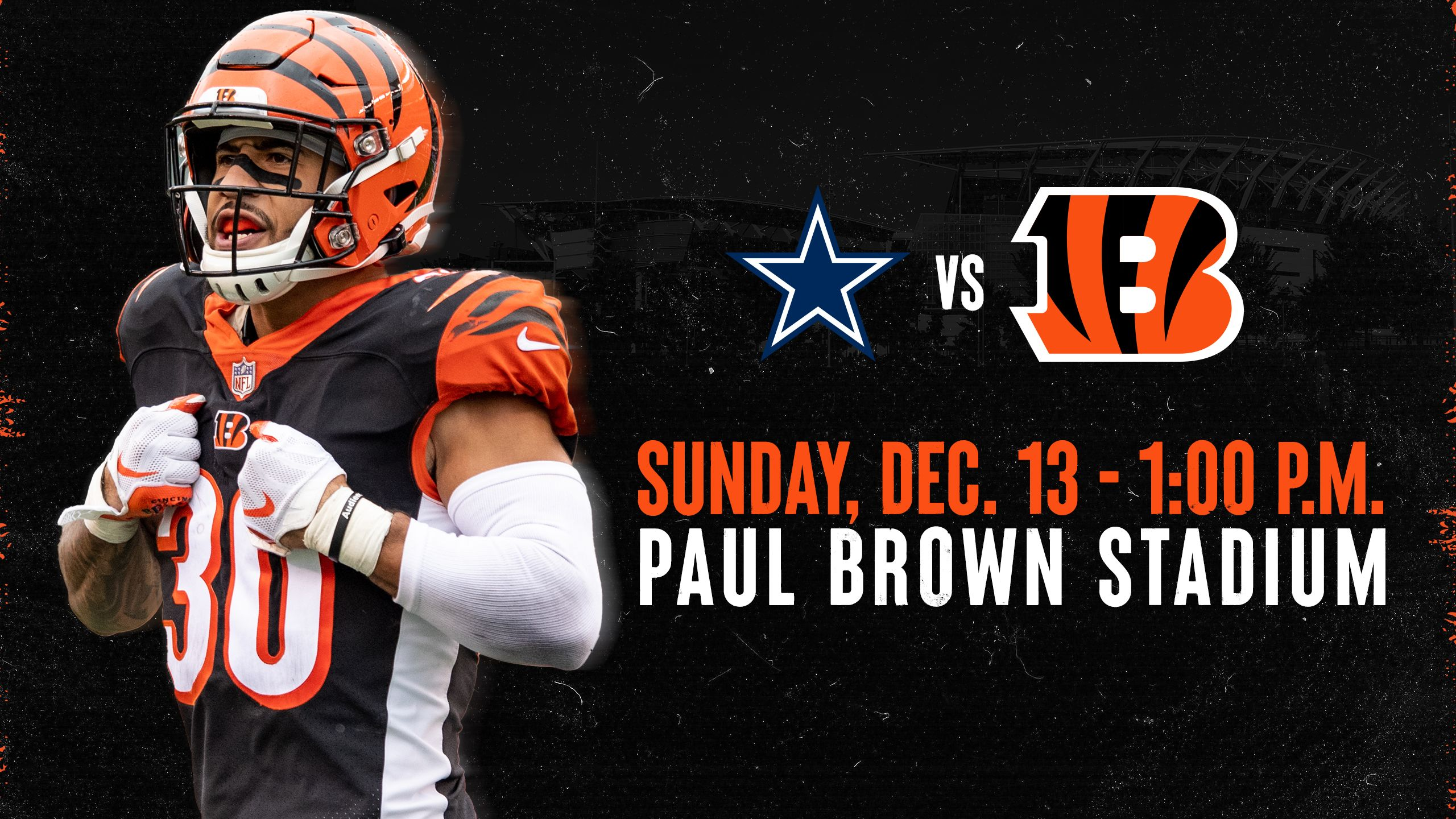 Bengals vs. Cowboys | Sunday, Dec. 13, 2020
