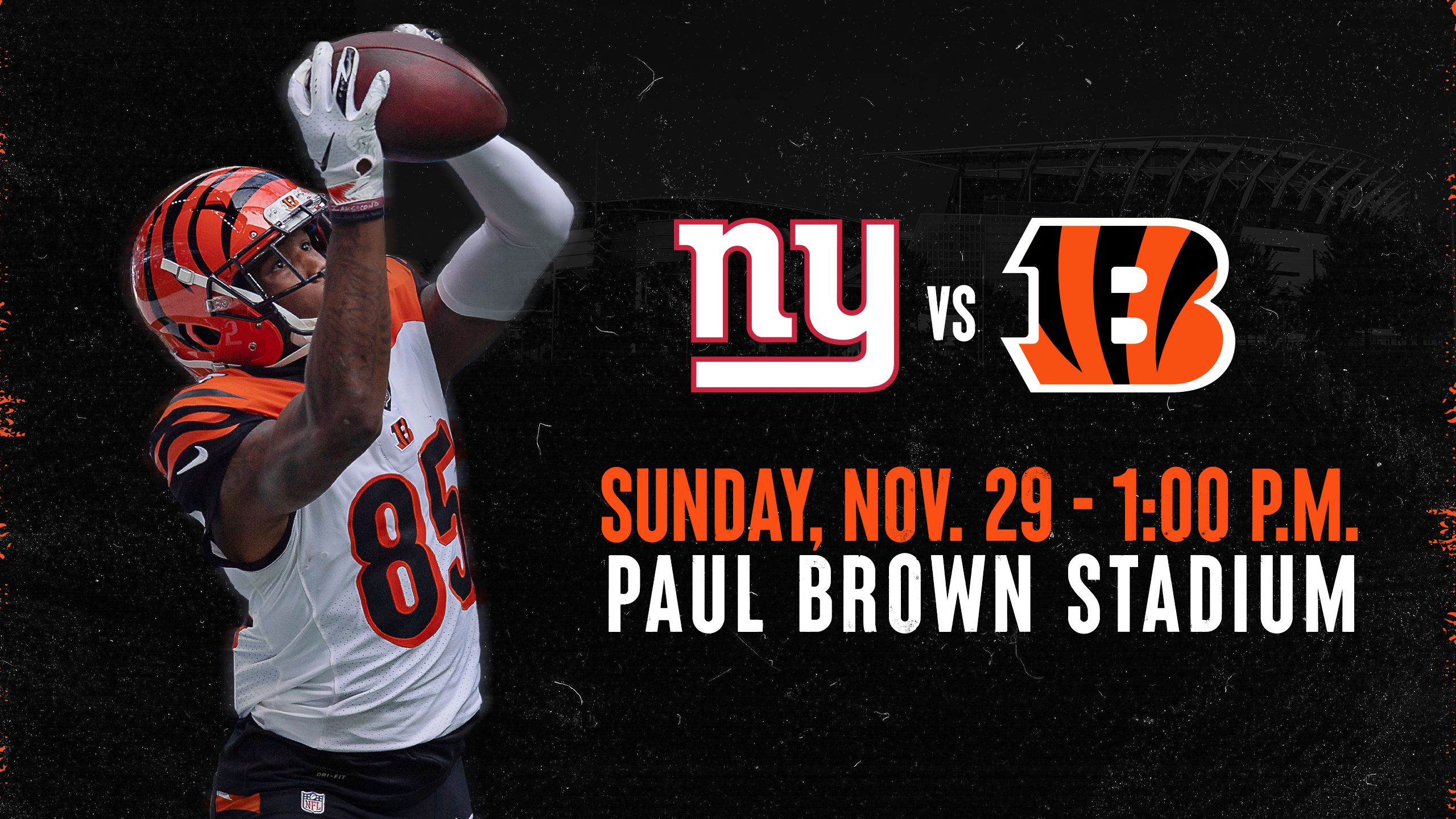 Bengals vs. Giants | Sunday, Nov. 29, 2020