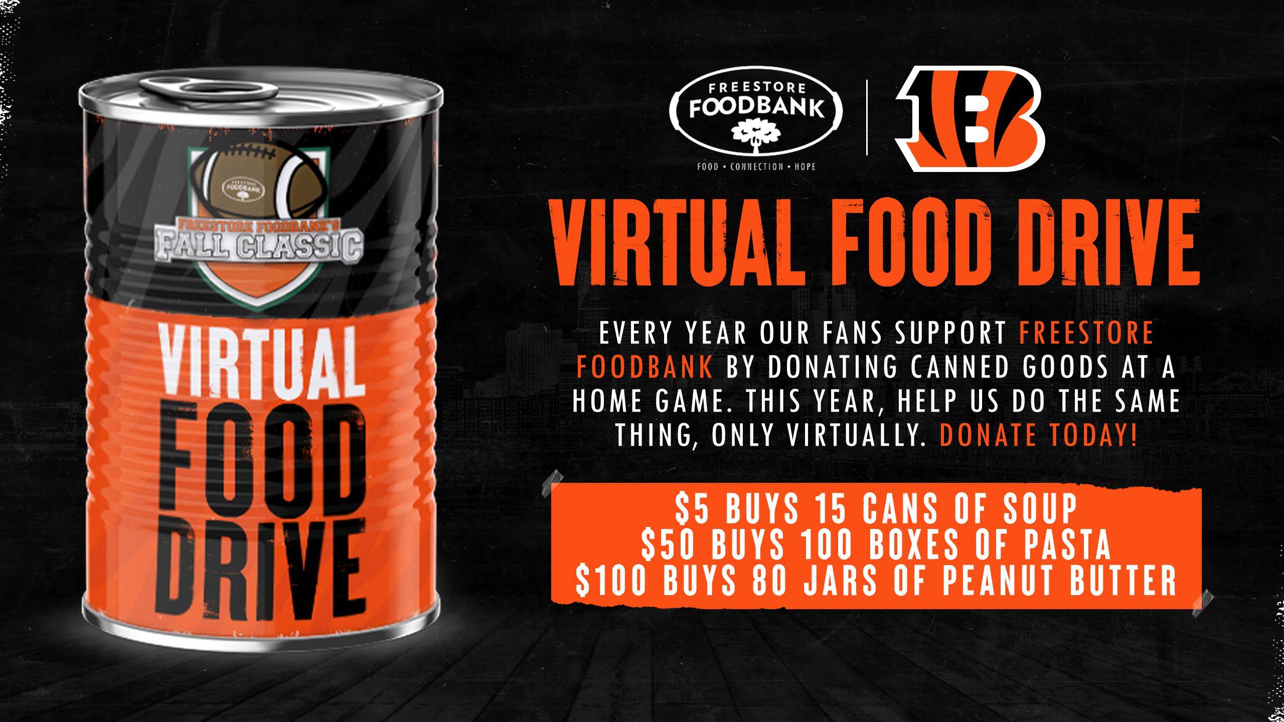Bengals Virtual Food Drive
