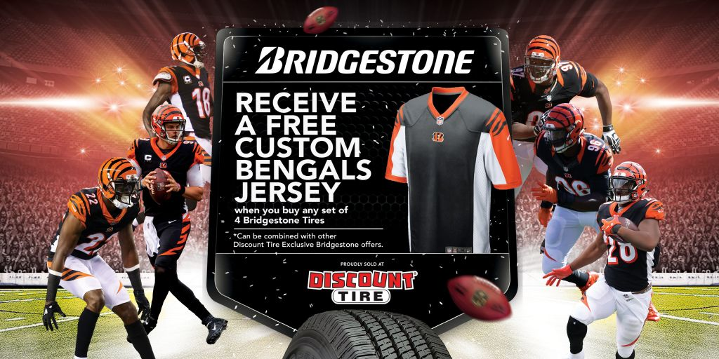 Buy Four Tires and Receive a Free Custom Bengals Jersey