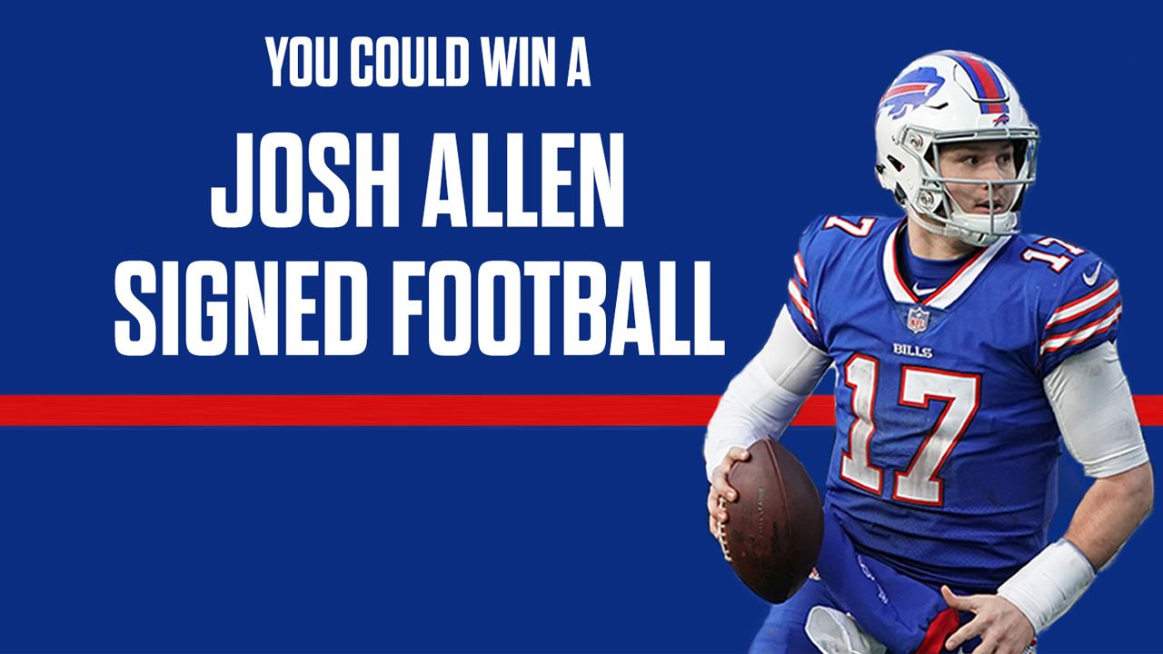 You could win a Josh Allen autographed football!