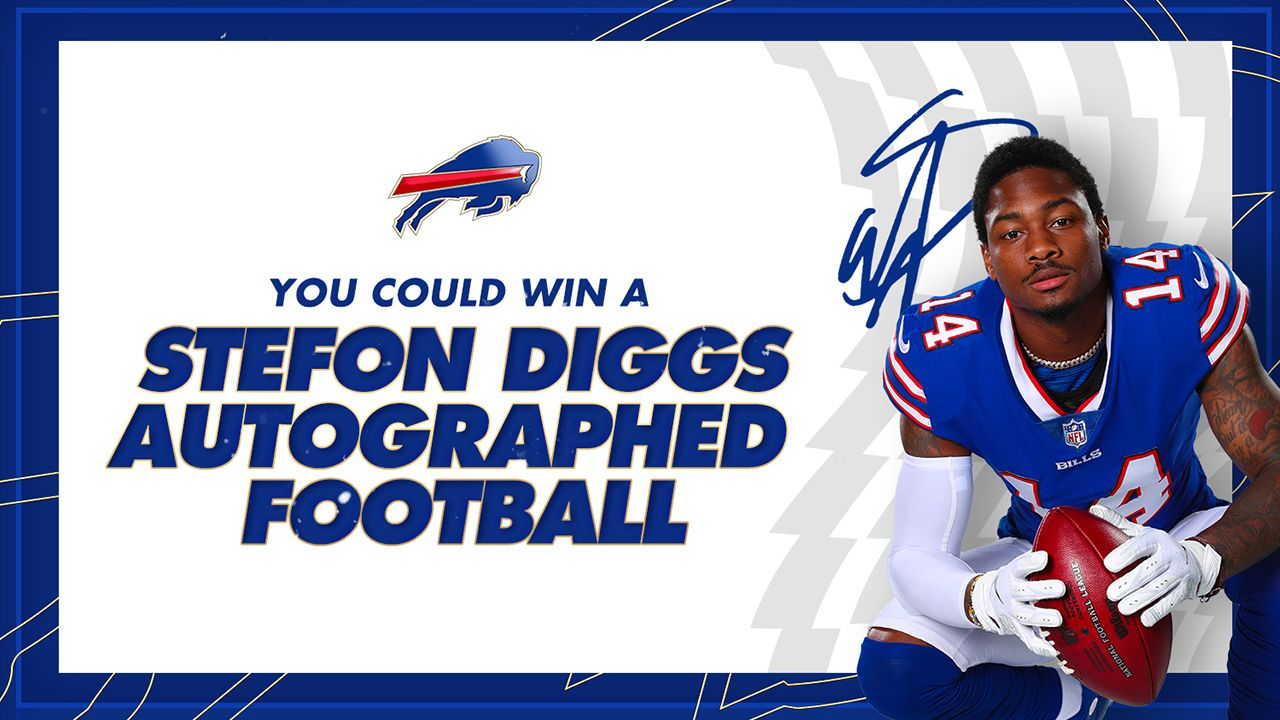 You could win a Stefon Diggs Autographed Football!
