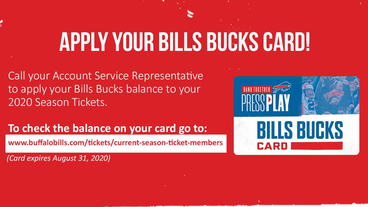 Apply Your Bills Bucks Card!