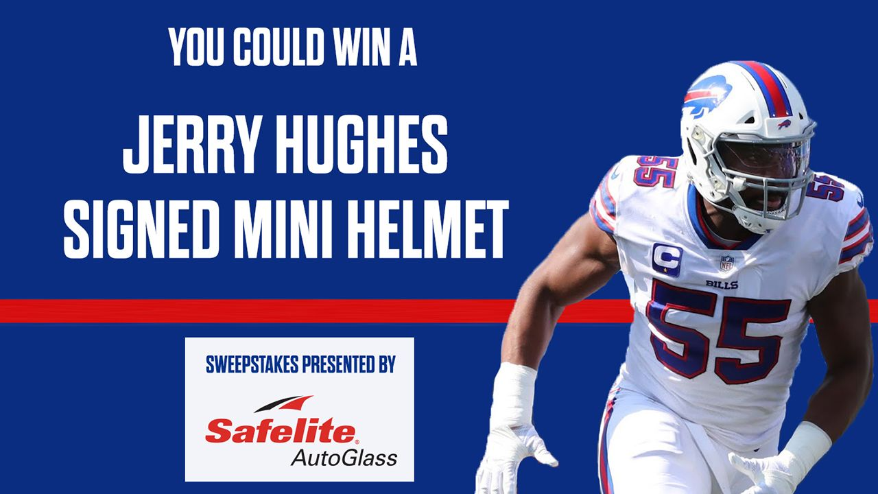 You could win a Jerry Hughes autographed mini helmet!