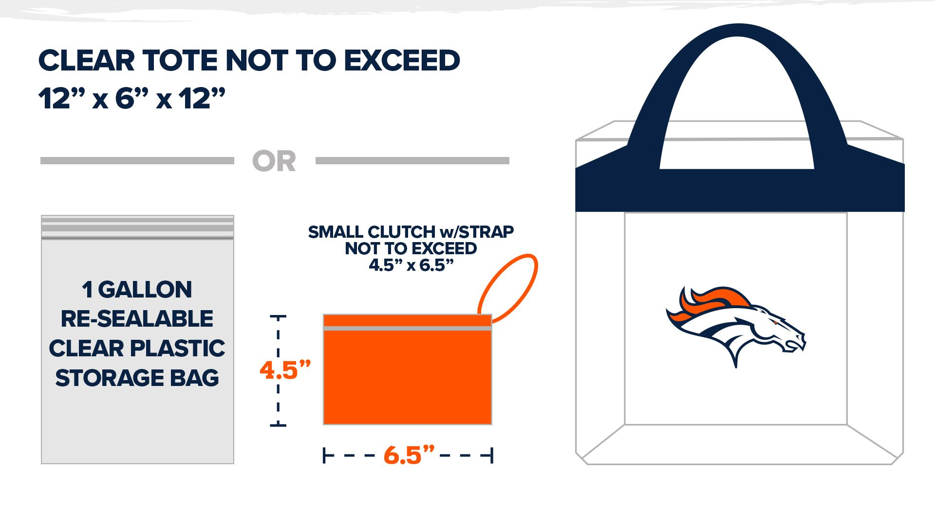 NFL CLEAR BAG POLICY / PROHIBITED ITEMS