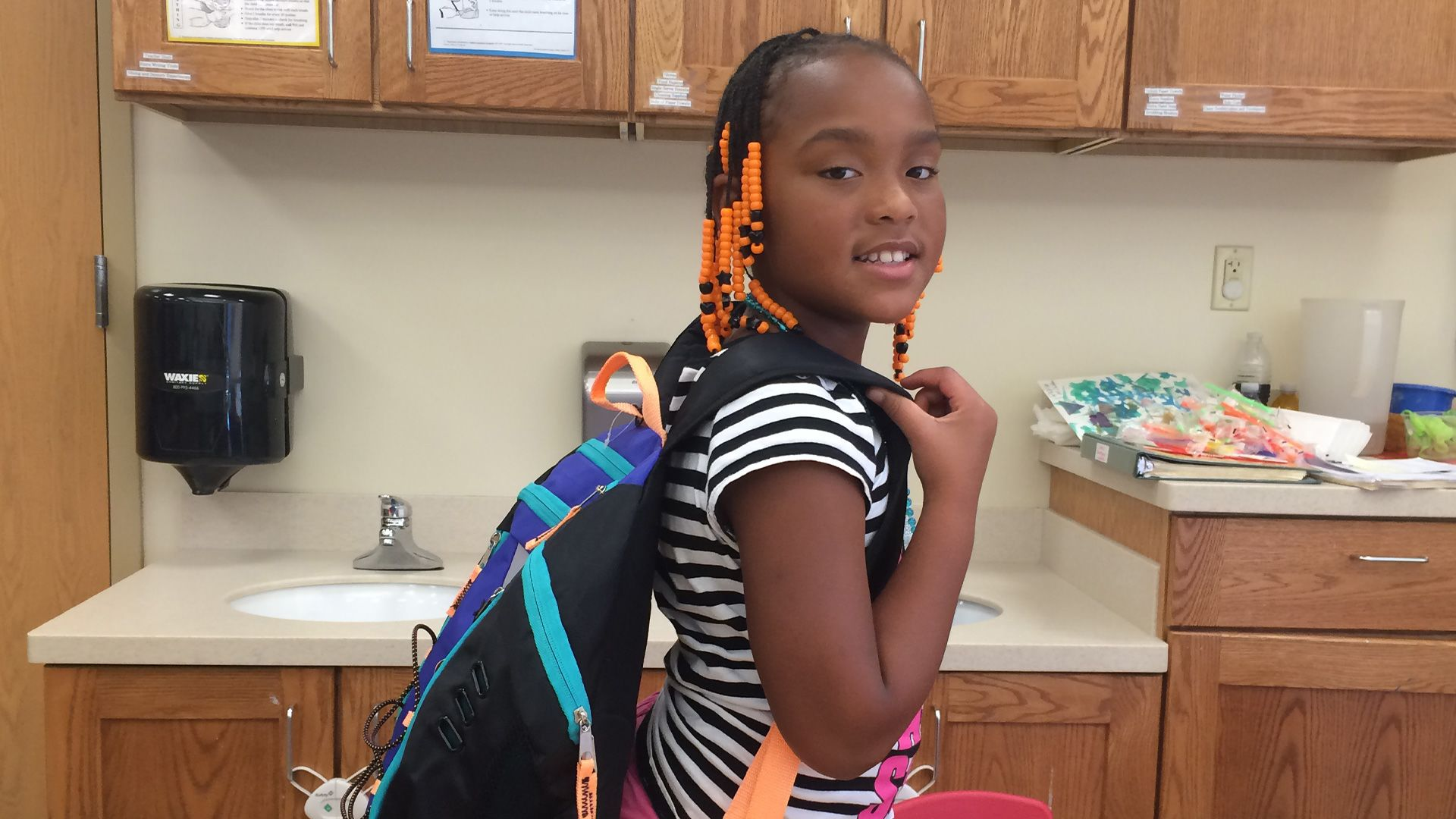 Purchase and send school supplies directly to Volunteers of America