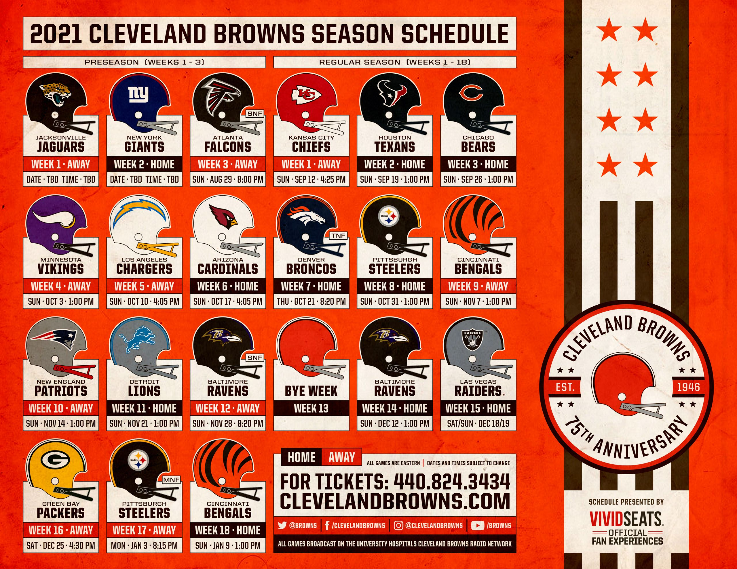 Download the Cleveland Browns 2021 Schedule