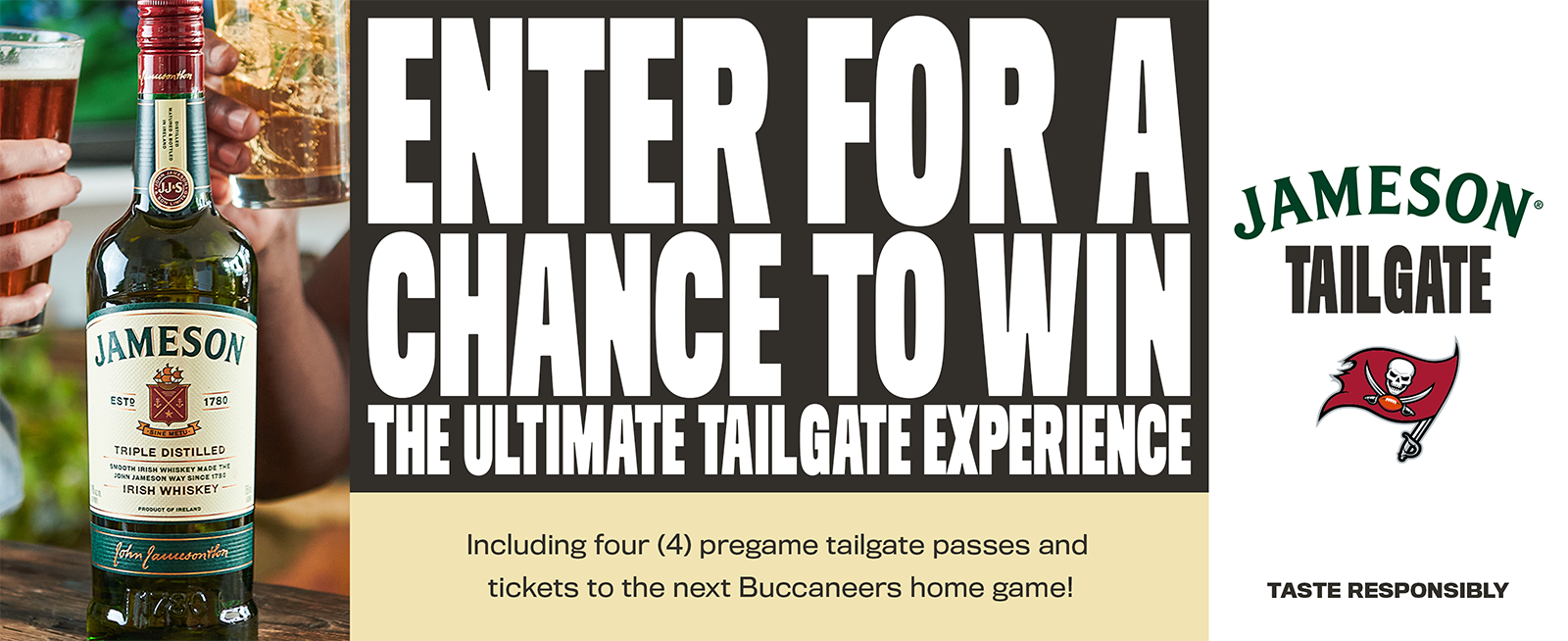 enter for a chance to win the ultimate tailgate experience