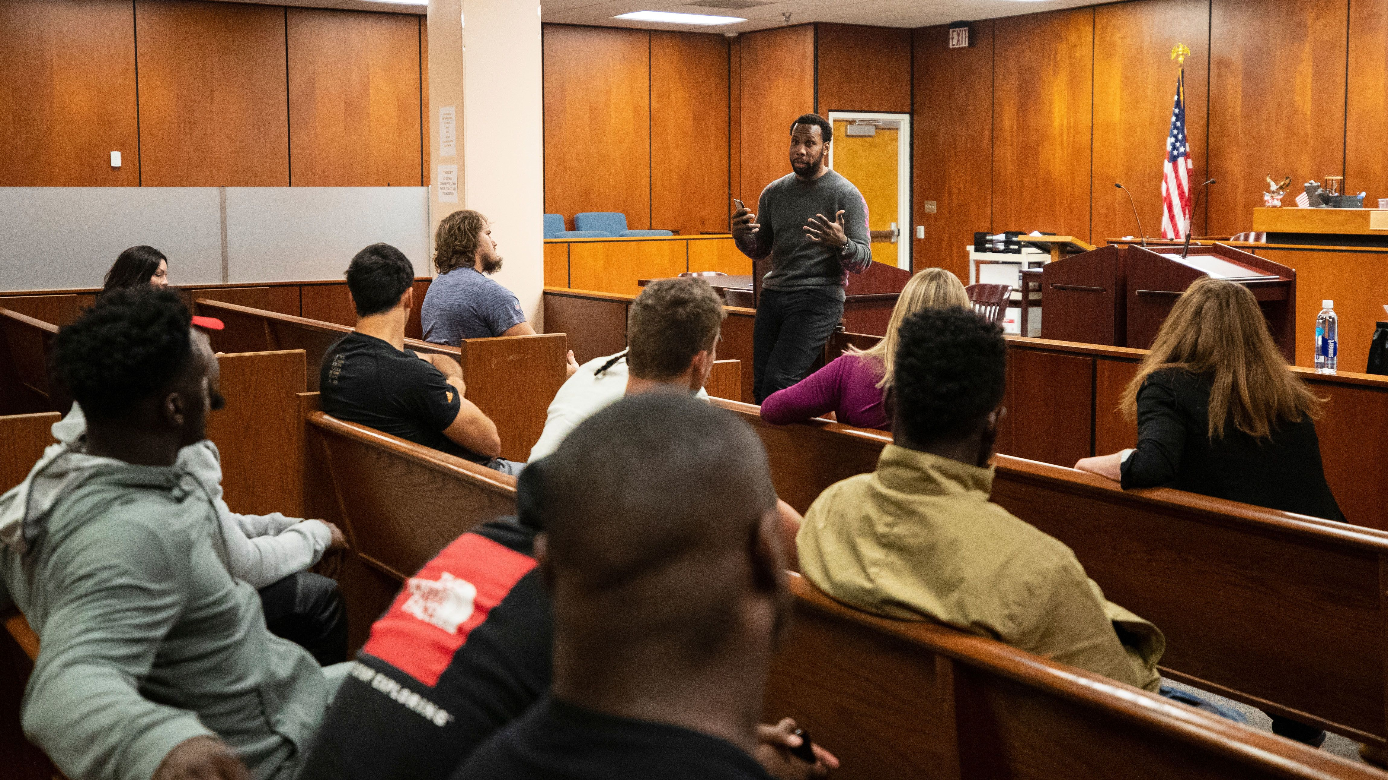 Their Day in Court: Bucs Players Get Firsthand Look into Local Judicial System