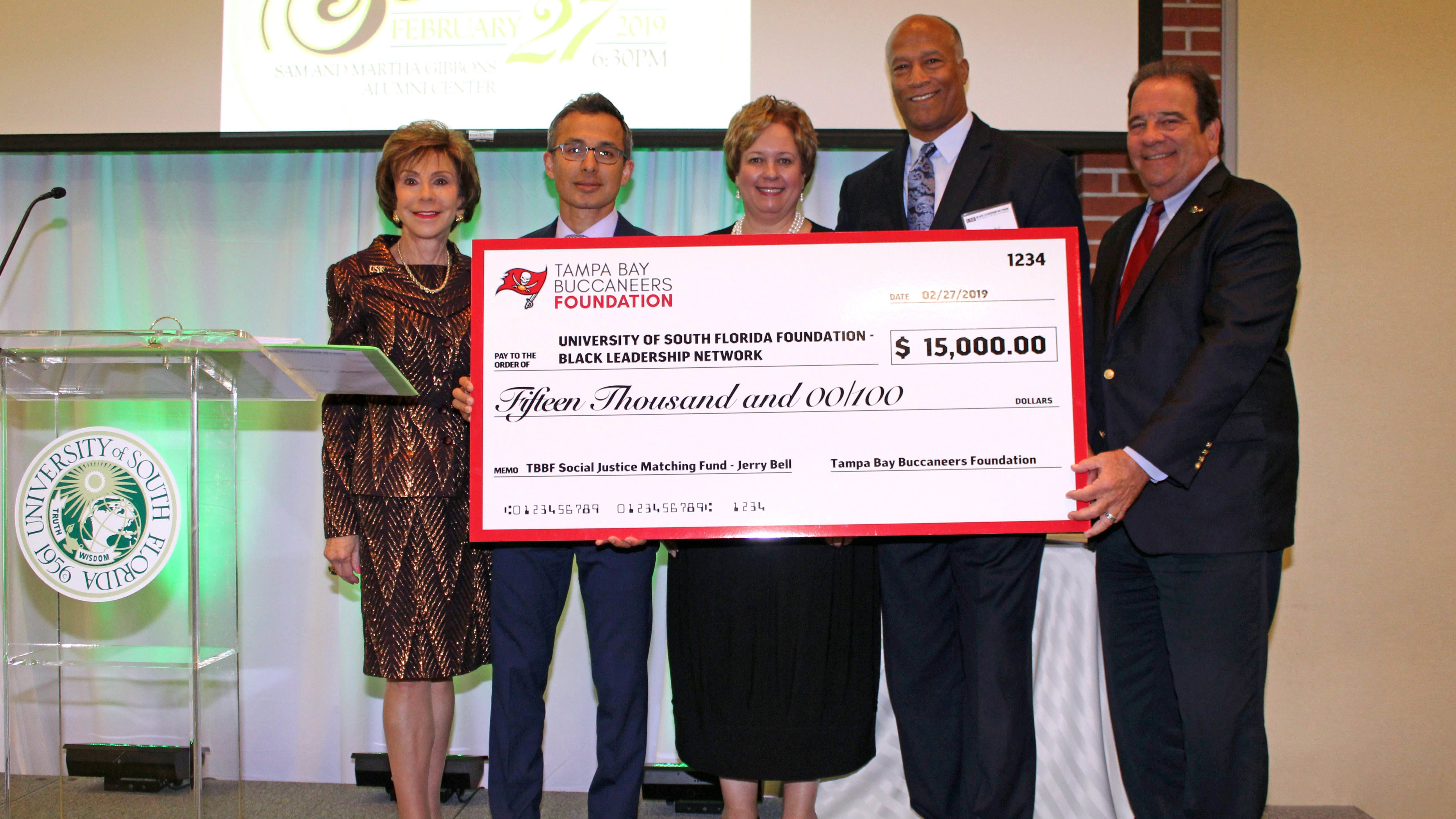 Tampa Bay Buccaneers Foundation Matches $15,000 Gift for the USF Black Leadership Network