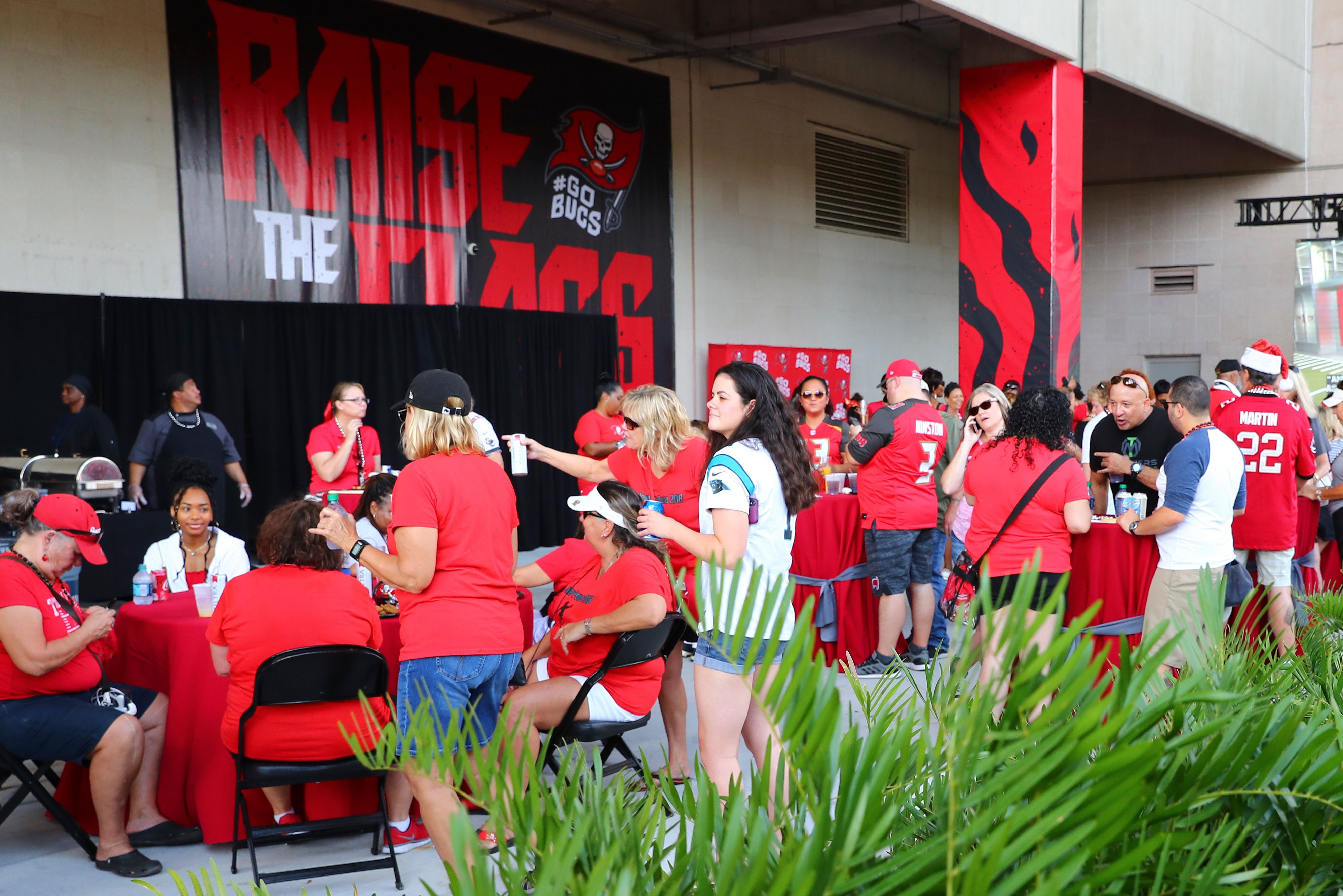 Buccaneers Veranda Tailgate Party