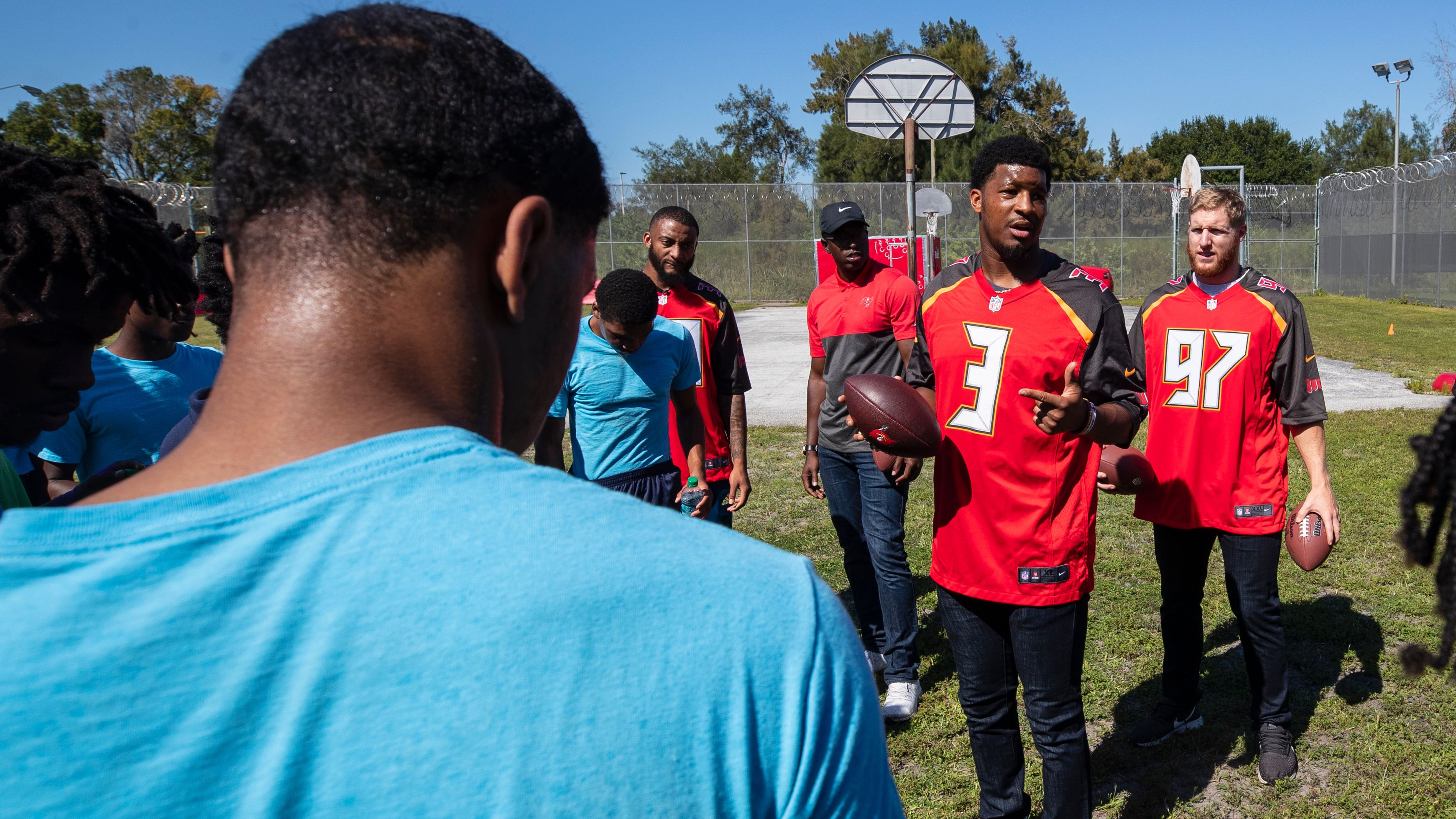 Buccaneers Players Encourage, Empower Youth at Hillsborough Detention Center in Social Justice Visit