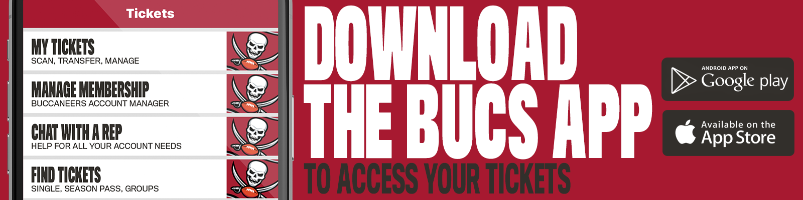 download the bucs app to access your tickets