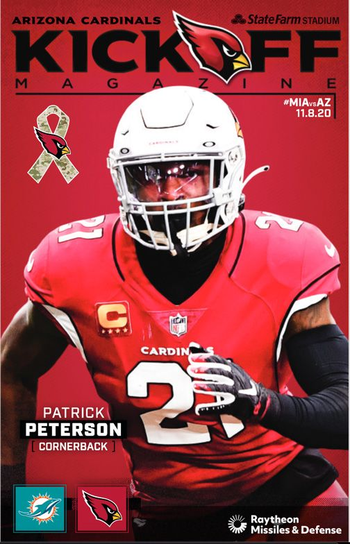 Kickoff Magazine Cover Week 9 Arizona Cardinals vs. Miami Dolphins