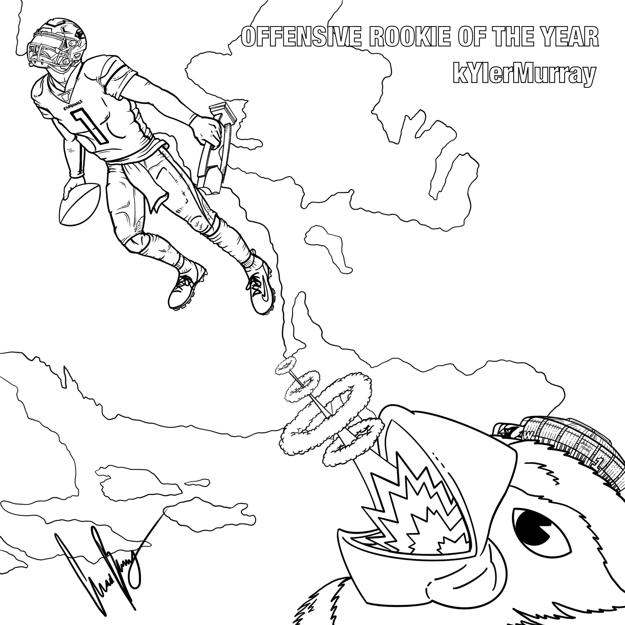 Kyler Offensive Player of the Year Coloring Image