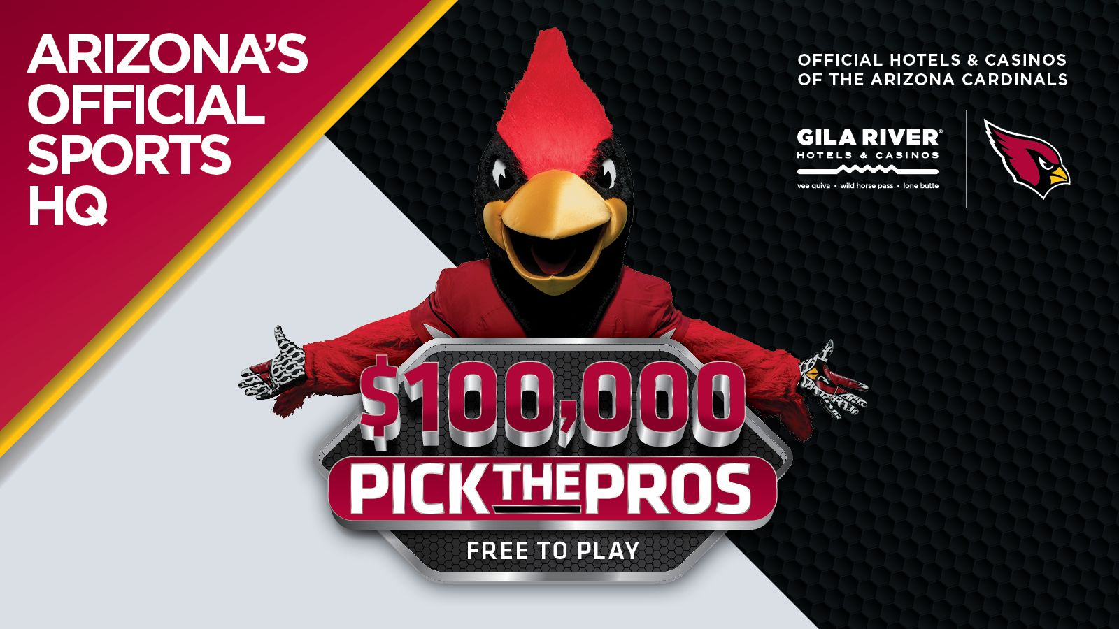 Gila River $100,000 Pick the Pros Contest Promo Image