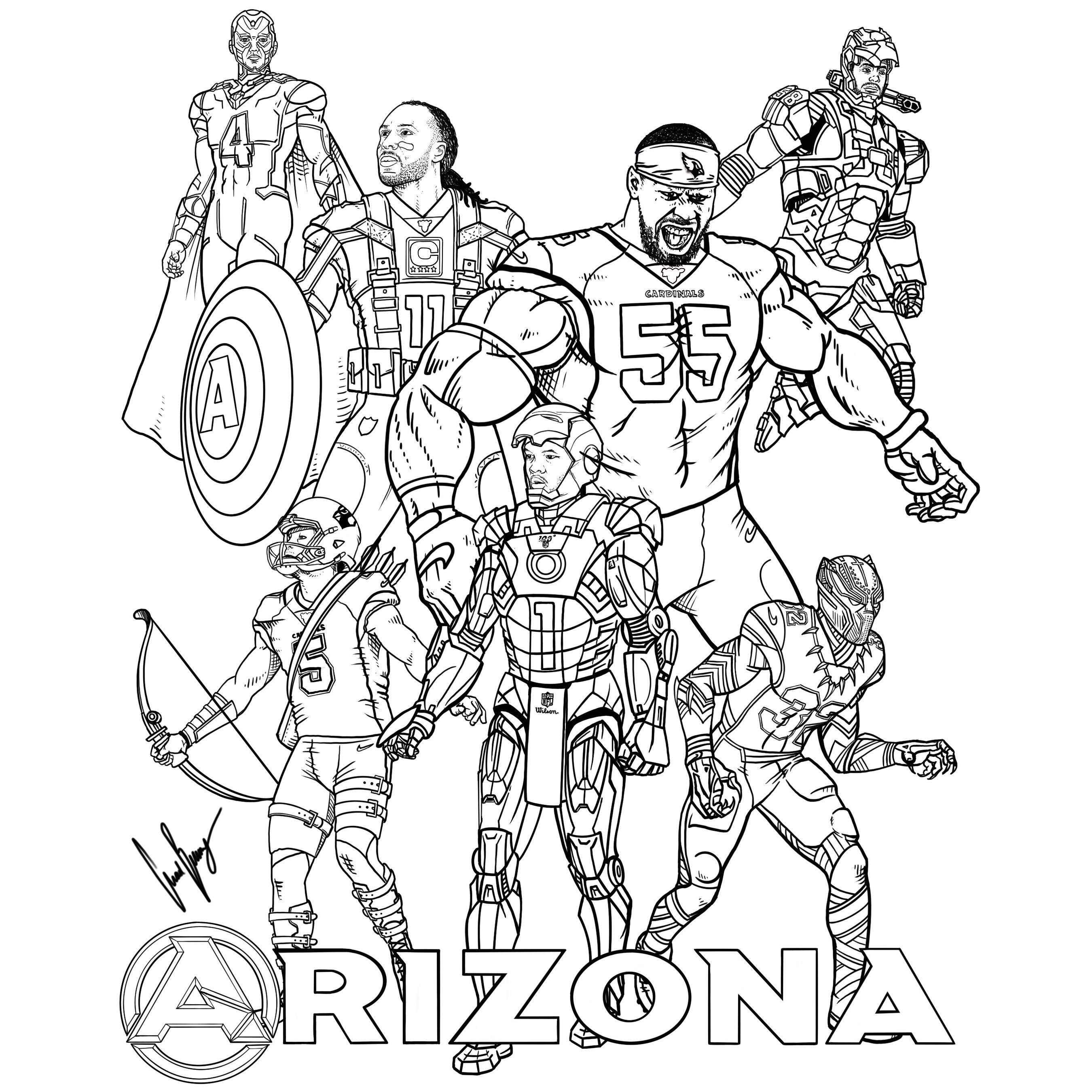 Arizona Assemble Coloring Image