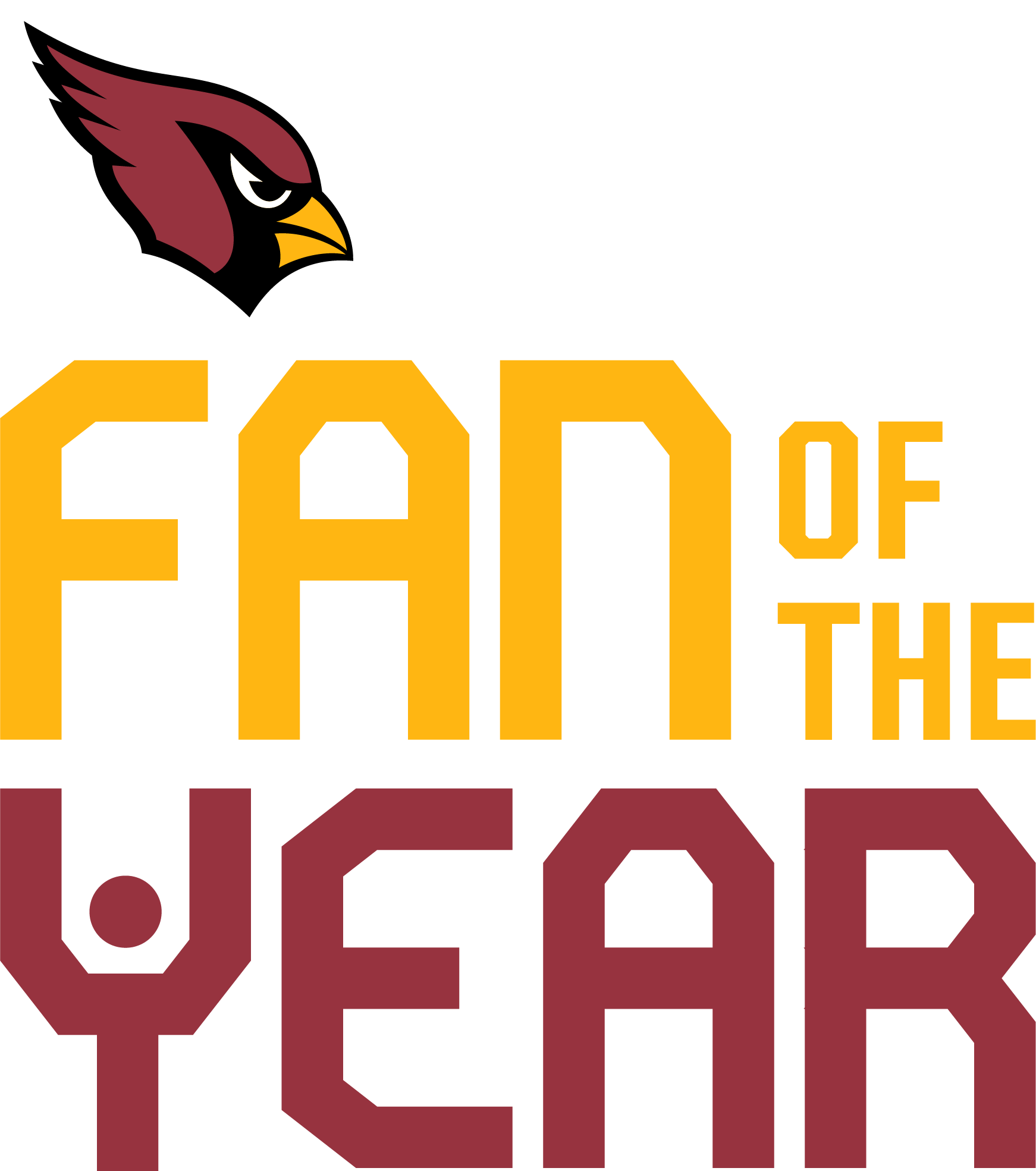 Arizona Cardinals 2020 Fan of The Year Color Logo