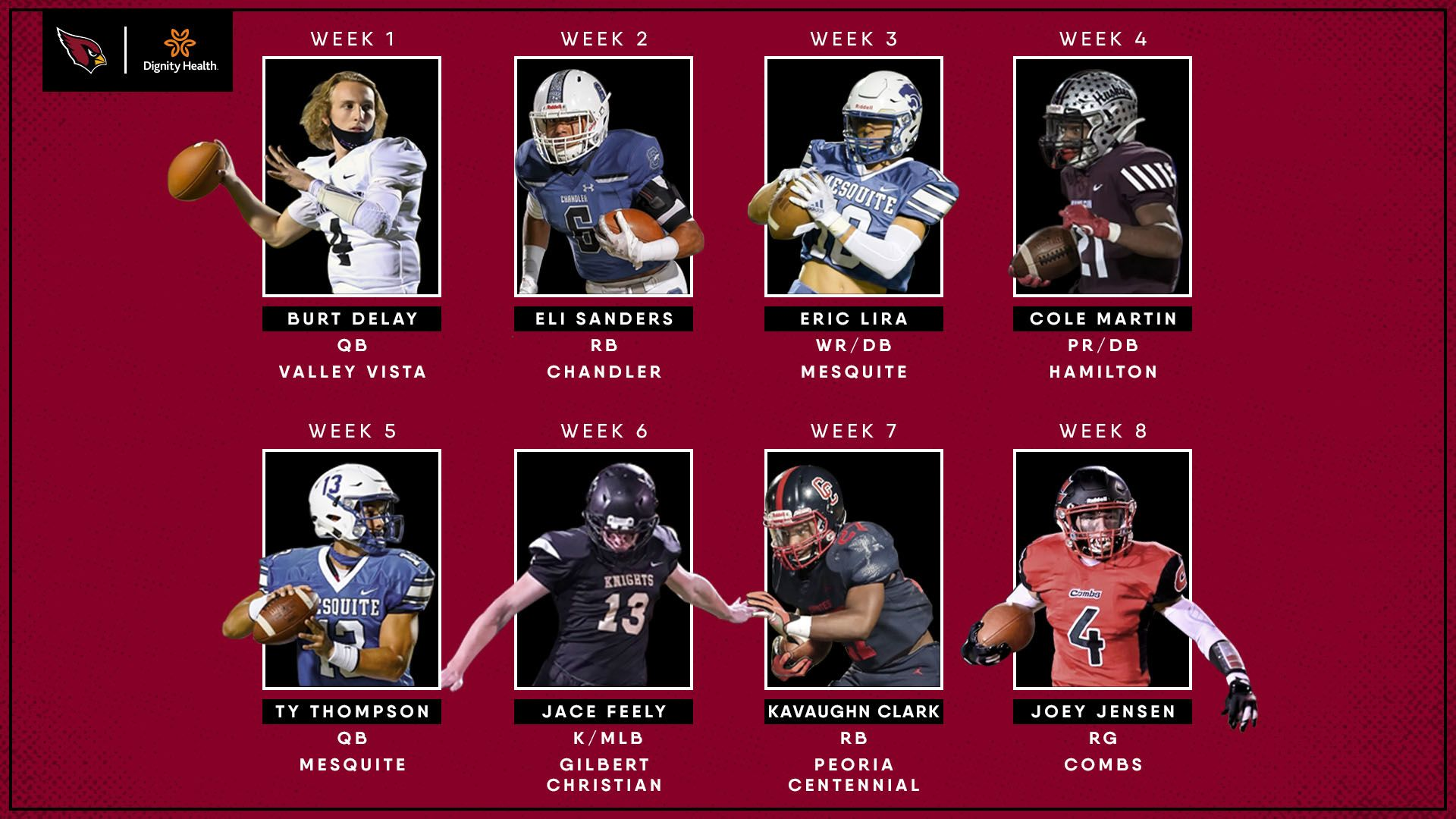 2020 Cardinals Community Players of the Week