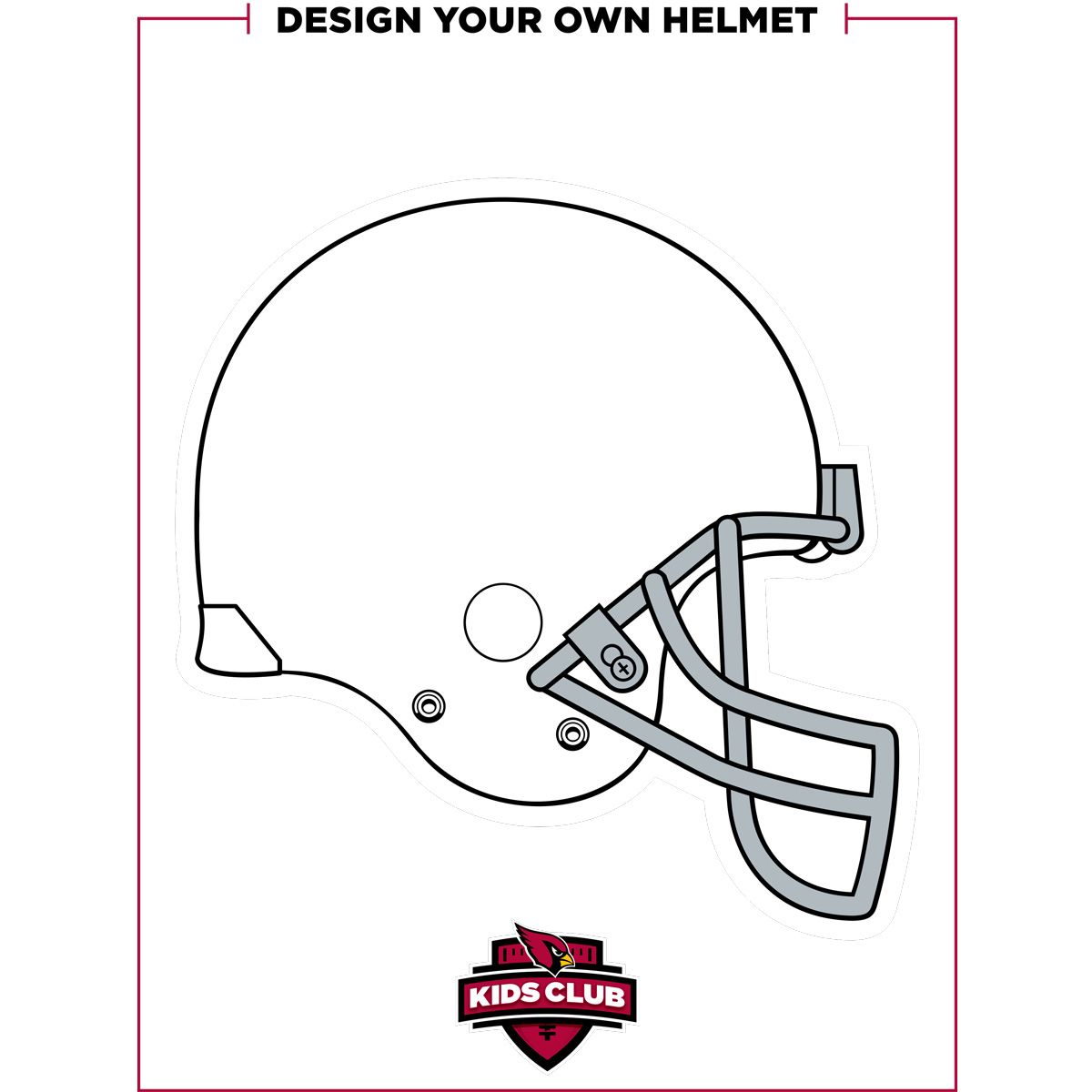 Design Your Own Helmet Kids Club Activity Coloring Book Image