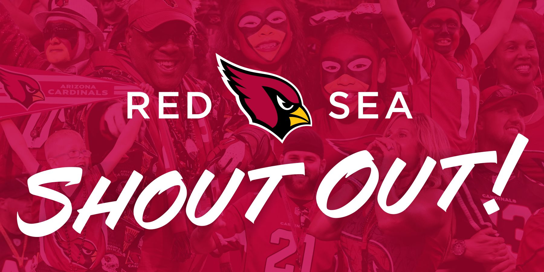 Arizona Cardinals 2020 Fan Contest Red Sea Shout Out