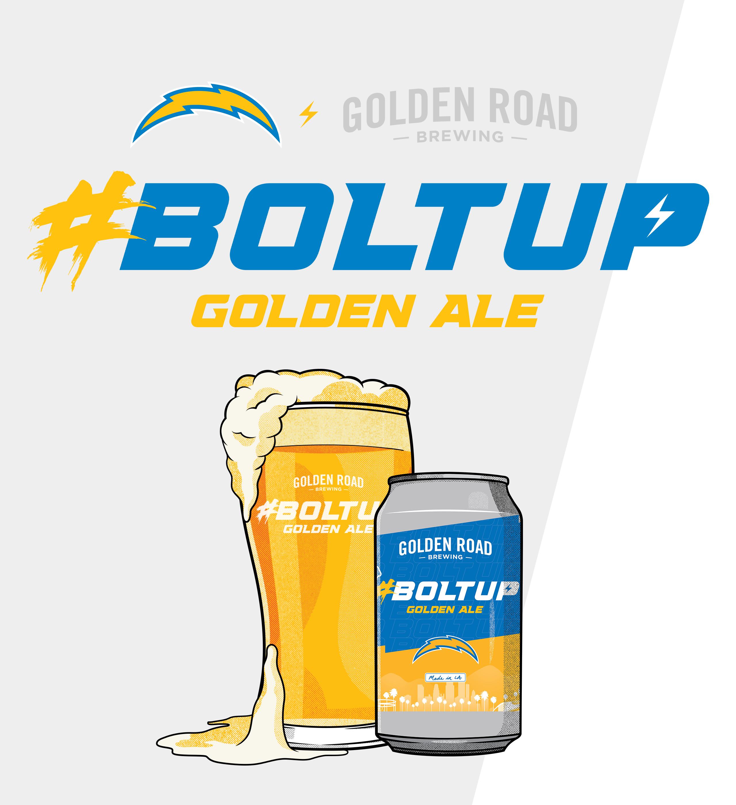 Golden Road x #BoltUp 🍺
