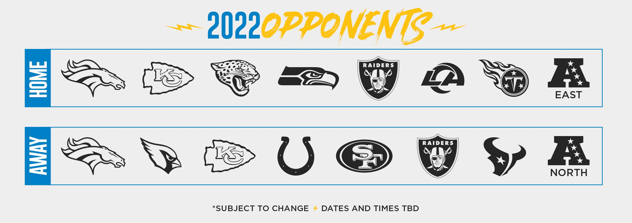 Calendrier Nfl 2021 2022 Chargers Future Opponents | Los Angeles Chargers   chargers.com
