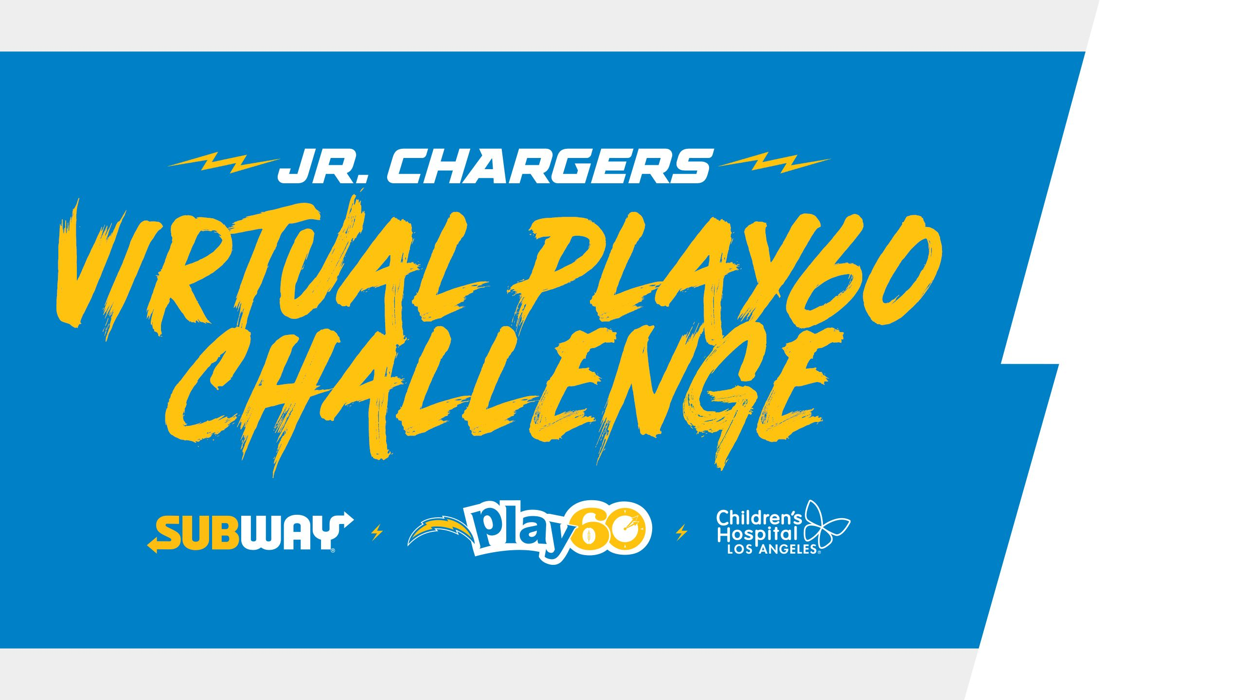 Jr. Chargers Virtual Play60 Challenge